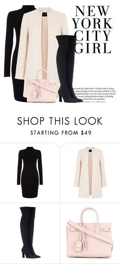 """Untitled #140"" by mimixoxomwah ❤ liked on Polyvore featuring Phase Eight, Stuart Weitzman and Yves Saint Laurent"