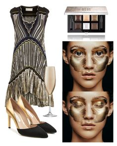 """Makeup 💄"" by subvilli ❤ liked on Polyvore featuring beauty, Peter Pilotto, Givenchy, LSA International, Diane Von Furstenberg and metallicmakeup"