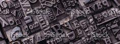 Metal Letterpress Types royalty-free stock photo