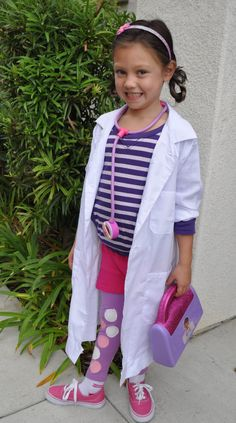 DIY Doc McStuffins costume plus how to paint perfect circles on fabric