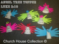 "Church House Collection Blog: Angel Tree Topper Craft ""Luke 2:10"" For Christmas"