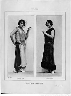 Modes (Paris) 1924 Toilettes de Zimmermann