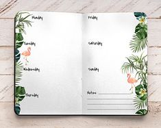 Αποτέλεσμα εικόνας για tropical layouts for bullet journals