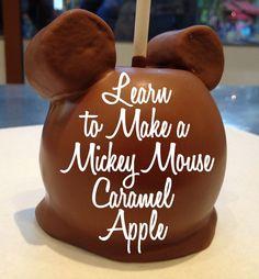 Mickey Caramel Apple DIY Tutorial