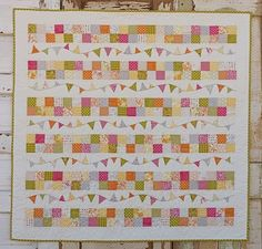 What is a bunting??? It is a flag banner! Could be used in a quilt or on any number of projects.