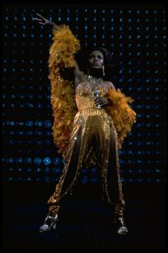"""Sheryl Lee Ralph performing the disco version of """"One Night Only"""" in a scene from the Broadway production of the musical """"Dreamgirls. Sheryl Lee, 1970s Disco, Visual And Performing Arts, Vintage Black Glamour, Soul Train, Fashion Illustration Sketches, Disco Party, Cool Costumes, Black Girl Magic"""