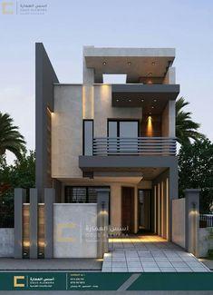 Modern Small House Design, Modern Exterior House Designs, Small Modern Home, Cool House Designs, Minimalist House Design, Small Homes Exteriors, Modern Bungalow House Design, Narrow House Designs, 2 Storey House Design
