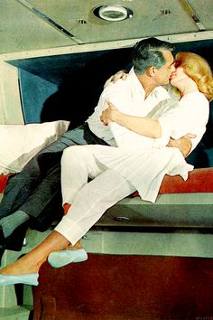 North By Northwest - Cary Grant and Eva Marie Saint. 1959