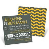Modern Message -- Poster Wedding Invitations