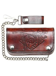 """Men's+""""No+Riders""""+Wallet+by+Lucky+13+Apparel+(Brown)"""