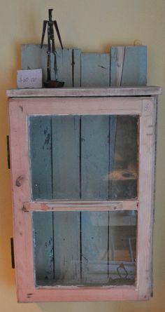 pallet window cupboard