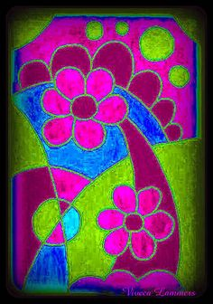 Painted flowers | With manipulation of the colours | By: Viveca Lammers | Flickr - Photo Sharing!