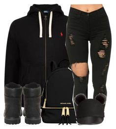 A fashion look from April 2016 featuring Timberland ankle booties, MICHAEL Michael Kors backpacks and H&M hats. Browse and shop related looks. Swag Outfits For Girls, Teenage Girl Outfits, Cute Swag Outfits, Teenager Outfits, Dope Outfits, Teen Fashion Outfits, School Outfits, Look Fashion, Trendy Outfits