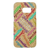 Customizable Fun Cute Colorful Your Name Pattern Samsung Galaxy S7 Case
