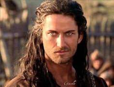 Gerard Butler... Crooked smile, piercingly icey eyes, long hair? I'm in. ...Or I guess he's in...but now I'm getting inappropriate hahaha JK