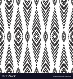 Ikat seamless pattern fashion wallpaper vector image on VectorStock Tribal Wallpaper, Chevron Wallpaper, Fashion Wallpaper, Wallpaper Backgrounds, Ikat Pattern, Pattern Design, Vector Background, Background Patterns, Fashion Design Portfolio