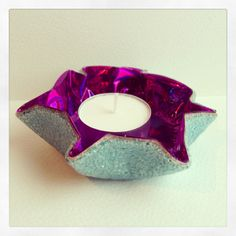 Beautiful Recycled Cd Tea light holders #CD, #Recycled