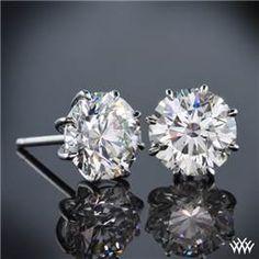 "8-Prong ""Martini"" Diamond Earrings"