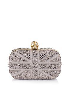 Swarovski crystal Britannia box clutch  £1495  Alexander McQueen