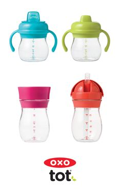 OXO Tot Transitions Sippy Cups are ideal for every tot - choose from your preference of Soft Spout, Hard Spout, Straw Cup, or Trainer Cup! They all have a unique, leakproof design so no matter which cup you choose, you can keep spilling to a minimum.