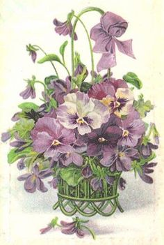 Silk Print with Pansy Theme 04 by peggeez on Etsy