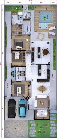 Beautiful House Plans, Simple House Plans, Family House Plans, Modern House Plans, Pool House Plans, Dream House Plans, Design Your Dream House, House Design, House Construction Plan