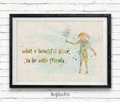 Harry Potter Poster, Dobby Watercolor Art Print, Kids Room, Wall Burlap Print, Minimalist Home Decor, Not Framed, Buy 2 Get 1 Free! NA111 by NeighborArts on Etsy https://www.etsy.com/listing/233485907/harry-potter-poster-dobby-watercolor-art