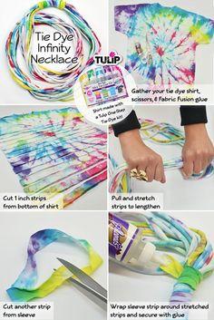 Tie Dye Infinity Necklace