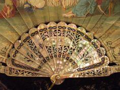 Fan date 1865-1875- Hand held fan