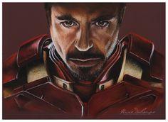 Iron Man / Tony Stark Iron Man Tony Stark, Pastel Art, Deadpool, Batman, Superhero, Fictional Characters, Fantasy Characters