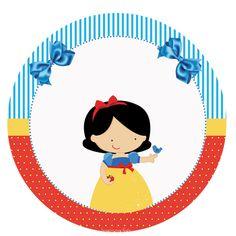 Branca de Neve – Kit festa infantil grátis para imprimir – Inspire sua Festa ® Snow White Birthday, Snow White Disney, Baby Shower, 5th Birthday, Say Hello, Alice, Clip Art, Scrapbook, Party