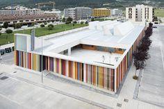 Nursery School by Javier Larraz . Iñigo Beguiristain (Berriozar, Navarra, Spain) #architecture