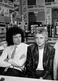Brian May and Roger Taylor of Queen, one of my favorite bands from way back in mid-school.