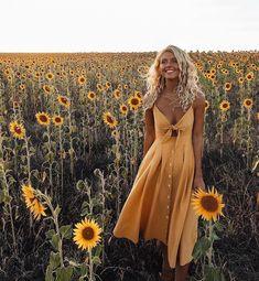 Pretty yellow sundress. #SummerFashionTrends #FashionTrendsDIY