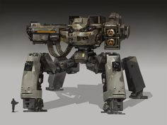 Sherman by Jing Cheng on ArtStation. Fantasy Weapons, Sci Fi Fantasy, Battle Robots, Battle Droid, Robots Characters, Sci Fi Armor, Tank Design, Cyberpunk Art, Ghost In The Shell