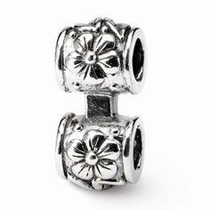 Sterling Silver Floral Connector Bead