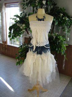Denim cream lace wedding skirt for alternative weddings one of a kind small size. Denim Wedding, Wedding Skirt, Lace Wedding, Wedding Bride, Country Garden Weddings, Country Style Wedding, Event Dresses, Prom Dresses, Wedding Dresses