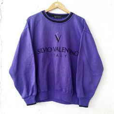SILVIO VALENTINO Sweatshirt Italian Style Jumper Pullover Size L Up for Sale