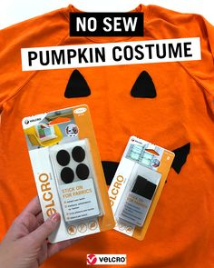 Looking for a quick and easy Halloween costume idea  Try your hand at making  this no-sew pumpkin costume - it looks great and you can make it in 15  minutes! a47c77dbf