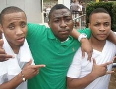 Check out this old pic of Davido with his cousins Bred & Sina Rambo