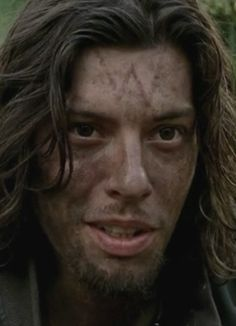 the walking dead conquer benedict samuel, this dude is crazy as hell but sexy as hell as well, sorry o.o and with him in the show Daryl now has competition for who's the filthiest of them all lol
