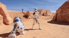 """The video, made by the fan club Star Wars Tunisia , is set among some of the abandoned set pieces used in the original films and around other parts of Tunisia.   """"Star Wars"""" Characters Dancing To Pharrell's """"Happy"""" Is The Best Thing You'll See All Day"""