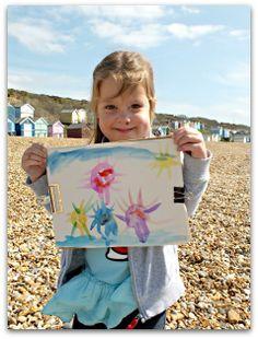 Paining on the beach