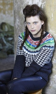 Gorgeous handmade Scottish jumper- traditional pattern with some neon wool for a modern spin. Got this via plumo.com as a gift from my Mum they may still have some left!