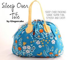 Sleep Over Tote PDF Sewing Pattern