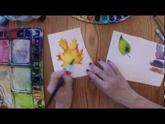 ▶ 3 New Techniques for Painting Leaves in Watercolor - YouTube