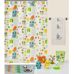 Wal-Mart Creative Bath Give A Hoot Shower Curtain