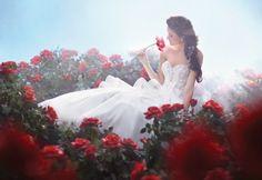 Rose garden wedding (beauty and the beast)