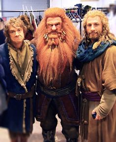 the Hobbit behind the scenes BTS - Martin Freeman, Dean O'Gorma and Peter Hambleton Hobbit Cosplay, O Hobbit, The Hobbit Movies, Lotr Movies, Thranduil, Legolas, The Middle, Middle Earth, Bilbo Baggins