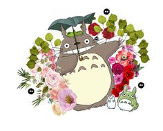 """""""totoro"""" by momoheart ❤ liked on Polyvore featuring art"""
